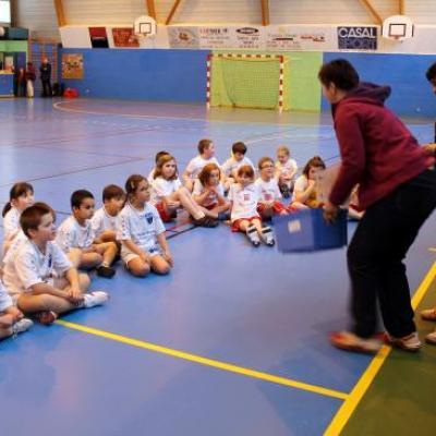 Tournoi mini-hand à Bolbec 12/02/2011