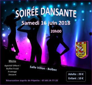 Affiche soiree dansante 16 06 2018